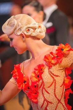 Ballroom dancing is as well liked as ever, a primary reason is the many movies and tv shows which have dancing. Perfectly styled hair is an important part of the overall look for ballroom dance competitors. Braided Hairstyles Updo, Dance Hairstyles, Wedding Hairstyles, Updo Hairstyle, Braided Updo, Celebrity Hairstyles, Dance Competition Hair, High Bun Hair, Hair Buns