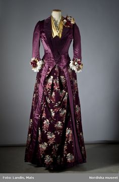 1880s, silk and vel