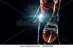 American Football Sportsman Player Stadium Stock Photo (Edit Now) 265628858 Football Images, American Football, Royalty Free Stock Photos, Illustration, Soccer Pictures, Football, Illustrations