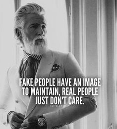 Important to spot the difference. Fake people will always copy, adapt and impersonate those they want to fit in with.