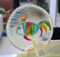 Hand painted lollipops Gretel Sweet art.