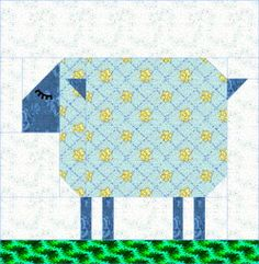 QDNW Patch Sheep block pattern