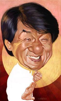 Caricature: Jackie Chan by Joe Cummings