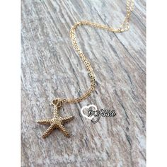 Starfish Charm Necklace  Gold Filled Chain  Dainty  by LoveMyssa