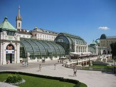 The Burggarten, a once-royal garden that is a bit of England in Vienna, as it is patterned after English gardens. Glass Restaurant, Luxury Restaurant, Dining Area Design, Porch And Terrace, Vienna Secession, Royal Garden, Interesting Buildings, Cities In Europe, Vienna Austria