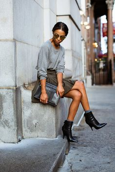 Sitting pretty and casual chic in Paris - Street style.