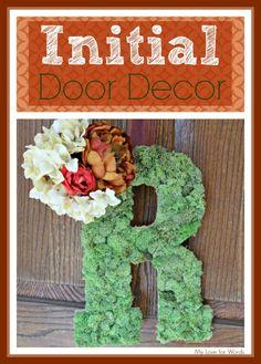 Initial Door Decor