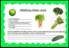 Alkalizing Green Juice Raw Food Diet