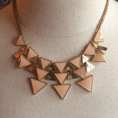 Triangle necklace Wear shown on back Jewelry Necklaces