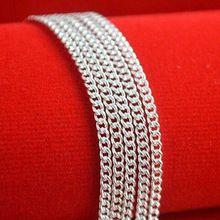 Mujer plata de ley 925 collar de cadena de joyería Collares Colar cadena joyas de plata 925 Sterling Silver cadena Collier Femme(China (Mainland))