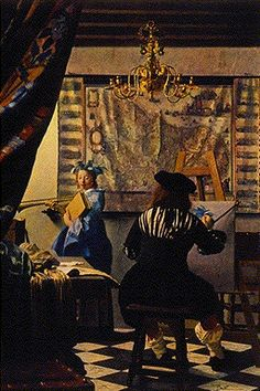 The Love Letter. Vermeer. Vermeer loved to grasp the private moment. Here a woman is presented a love note by her maid. She glances up with a look of apprehension and the maid reassuringly gazes back down upon her. The woman has obviously been consoling herself with her instrument and with the picture in the background, Vermeer hints that her love is at sea. He has added to the sense of our intrusion by placing the viewer in a closet (the curtain briefly drawn back) to view this most…
