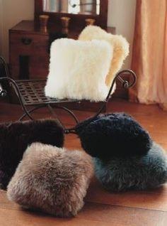 Ivory Sheepskin Cushion Cover