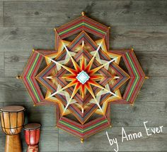 Ojo de Dios(Gods eye), Ethnic home decor, Weave wall hanging,Mandala Woven Wall Hanging, Tapestry Wall Hanging, Wallpaper Rose Gold, God's Eye Craft, Ethnic Home Decor, Gods Eye, Mandalas Drawing, Mandala Tapestry, Weaving Art