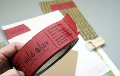 Business card tape Wild Olive Cucina Italiana