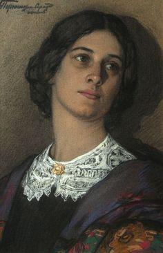 Ivan Goriushkin-Sorokopudov - Une tête de femme, 1910
