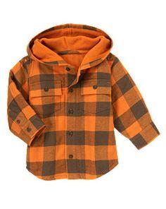 Plaid Flannel Hooded Shacket