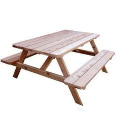 Outdoor Living Today, 64-3/4 in. x 66 in. Picnic Patio Table, PIC65 at The Home Depot - Mobile