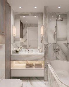 Best Bathroom Shower And Vanity Design Ideas Home Room Design, Dream Home Design, Home Interior Design, House Design, Bathroom Design Luxury, Modern Bathroom Design, Dream Bathrooms, Beautiful Bathrooms, Small Bathroom