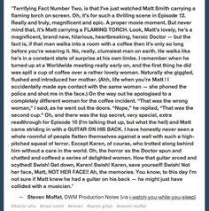 Steven Moffat on Matt Smith