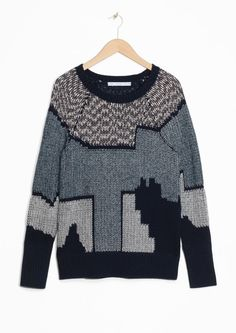 & Other Stories | Urban Landscape Jacquard Sweater.