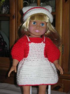 Free Crochet Doll Clothes Patterns for American Girl Dolls « Free
