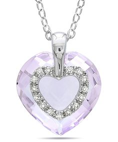 This Diamond & Sterling Silver Rose de France Pendant Necklace by Delmar is perfect! #zulilyfinds
