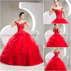 Aliexpress.com : Buy Free Shipping Ball Gown Off the Shoulder Floor Length Tulle with Appliques Wedding Dresses from Reliable ball gown wedding dress suppliers on HONEYSTORE CO., LIMITED $619.38