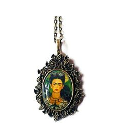 Frida Kahlo Art Romantic Pendant Necklace Timelessfancy http://www.amazon.co.uk/dp/B00ML1M5W2/ref=cm_sw_r_pi_dp_qhvwub1MVGRG0