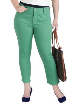 Shopping Assistant Jeans in Jade - Plus Size, #ModCloth