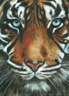 Save me! by colbran - Tiger painting #Art #Tiger #AnimalArt