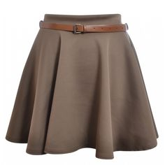 Taylor Mocha Belted Jersey Skater Skirt (€23) ❤ liked on Polyvore featuring skirts, bottoms, saias, faldas, gonne, circle skirt, brown jersey, skater skirts, brown skirt and jersey skater skirt