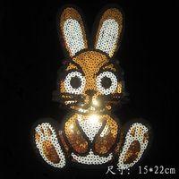 Бесплатная доставка (2 шт./лот) Кролик Лазерной Голографической передачи на дизайн стразы исправить исправление горный хрусталь передачи мотивы горячая fix