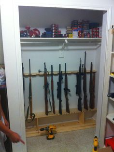 My Closet Turned Into Gun Safe Weekend Project I Did