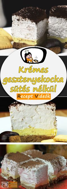 GESZTENYEKOCKA (SÜTÉS NÉLKÜL) RECEPT KÉSZÍTÉSE VIDEÓVAL My Recipes, Cake Recipes, Eat Pray Love, Hungarian Recipes, Vanilla Cake, Food And Drink, Baking, Sweet, Neon