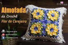 Ateliê do Barbante: Almofada de Crochê Flor de Cerejeira - Passo a pas...