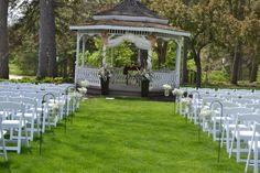 Check out this cute gazebo at Spencer Hall in London where couples are able to have an outdoor ceremony Beautiful Wedding Venues, Outdoor Ceremony, Gazebo, Outdoor Structures, London, Table Decorations, Couples, Check, Kiosk