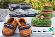 crochet booties and slippers for baby