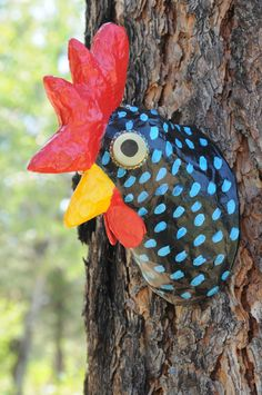 Faux Taxidermy Head // Faux Taxidermy Rooster// by BlueRoosterArts