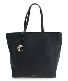 Another great find on #zulily! Versace Black & Silver Leather Tote by Versace #zulilyfinds