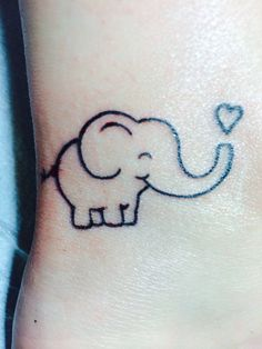 Happy little elephant! Done by Jamie at Bleed Blue Tattoo in Lexington, Ky.