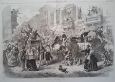 1870 PRINT MASQUERADE ON THE LAST DAY OF THE CARNIVAL AT GENOA