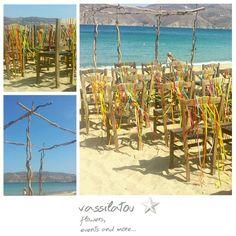 beach wedding Mykonos, Beach, Flowers, Wedding, Valentines Day Weddings, The Beach, Florals, Weddings, Beaches