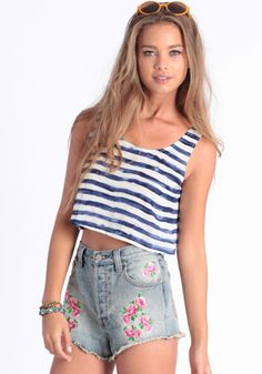 Loss For Words Cropped Top #threadsence #fashion