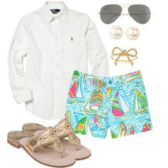 """Preppy Summer Evening"" by pollybee on Polyvore"