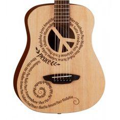 Luna Safari Peace Travel Acoustic Guitar