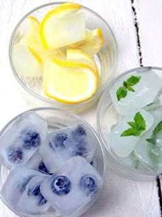 Gorgeous fruity ice cubes!