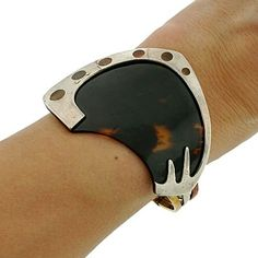 A Brandt and Son - Vintage Mexican Ledesma Sterling & Tortoise Shell Bracelet by hester