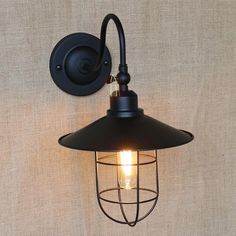 Vintage Iron Cages Metal Wall Lamp Black Lampshade Edison Bulb Fixtures From Dpgkevinfan, $73.51 | Dhgate.Com