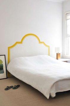 Realizzare una testata letto fai da te - Testata del letto disegnata
