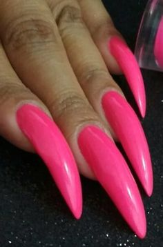 Fearless and Awesome Stiletto Nail Art Designs Images for 2019 Part stiletto nail art; Long Red Nails, Long Stiletto Nails, Sexy Nails, Pink Nails, Long Fingernails, Nail Art Designs Images, Nail Designs, California Nails, Long Natural Nails